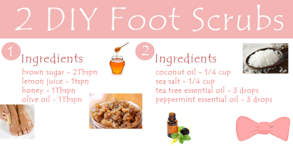 DIY Foot Scrub Ingredients