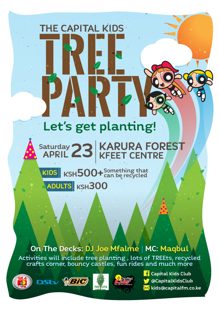 Tree planting Party poster