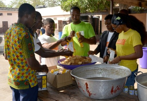 ghanian chef waste feed hungry ghana africa