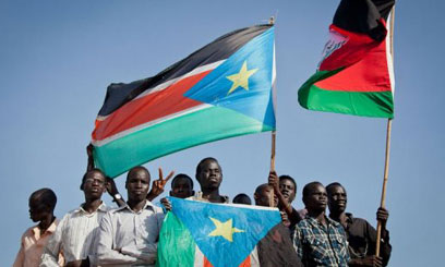 SOUTH-SUDANESE-PROTESTERS