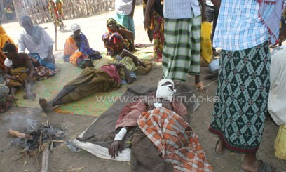 File photo shows locals wounded in a previous attack in the Tana Delta/CFM-FIle