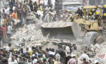 Cases of building collapsing while under construction are common in Africa. PHOTO/File.