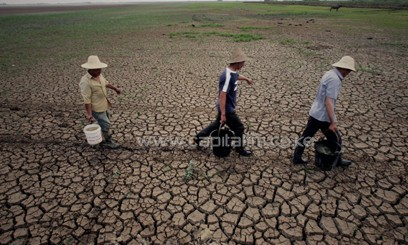 A drought stricken region in Asia/AFP