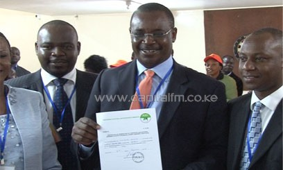 Kidero was declared winner of Nairobi's gubernatorial race after polling 692,483 votes, while Waititu emerged second with 617,839 votes/FILE