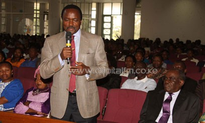 The VP spoke as he attended Sunday prayers at the Baptist Church on Ngong Rd/VPPS