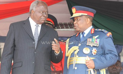 President Mwai Kibaki has been the Commander-In-Chief of Kenya's Defence Forces for 10 years/FILE