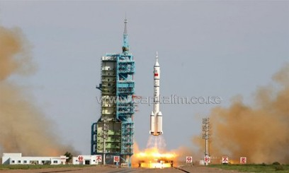 China's Shenzhou-10 rocket blasts off from the Jiuquan space centre in the Gobi Desert, on June 11, 2013/AFP