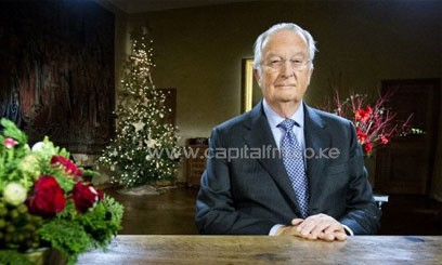 King Albert II of Belgium records his yearly Christmas message in Brussels on December 21, 2012/FILE