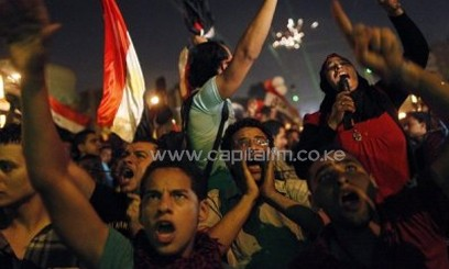 Egyptian protesters calling for the ouster of President Mohamed Morsi/AFP