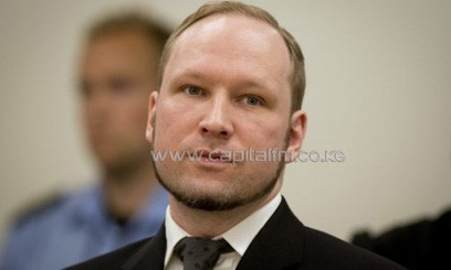 A picture taken on August 24, 2012 shows Anders Behring Breivik in court in Oslo. Mass killer Breivik has had his application to study political science at the University of Oslo rejected, the institution said on Tuesday/AFP