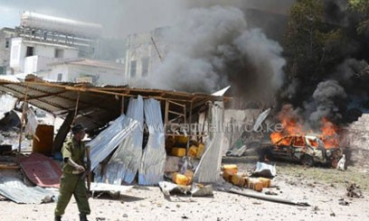 """""""At least 18 people were killed in the attack,"""" said Mohamed Dahir, another police officer. An AFP reporter saw 12 bodies at the scene of the attack/FILE"""