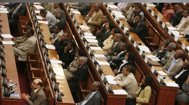 Ethiopian MPs at a parliamentary session in Addis Ababa/AFP