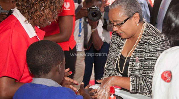 The First Lady said hand washing with soap, at critical times such as before eating or preparing food and after using the toilet/PSCU