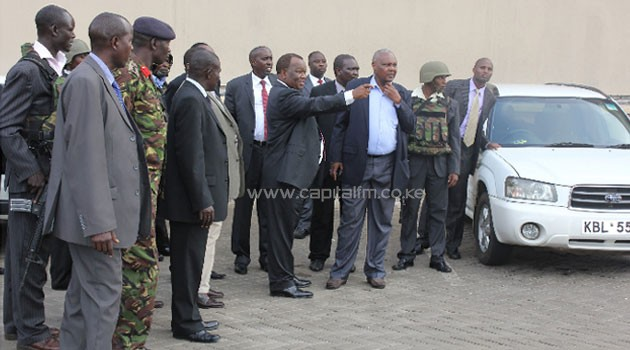 "Gen Karangi told the joint committees on National Security and Defence of the National Assembly that the soldiers only ""picked water from the Nakumatt store to quench their thirst.""/FILE"