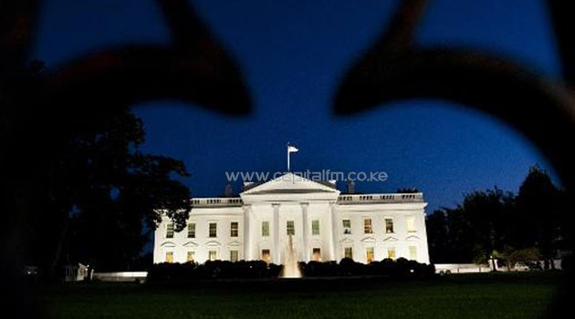 The White House is seen on the eve of the government shutdown in Washington, DC, September 30/AFP