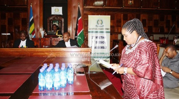 An MP contributes during a past session of the EALA. Photo/ www.eala.org