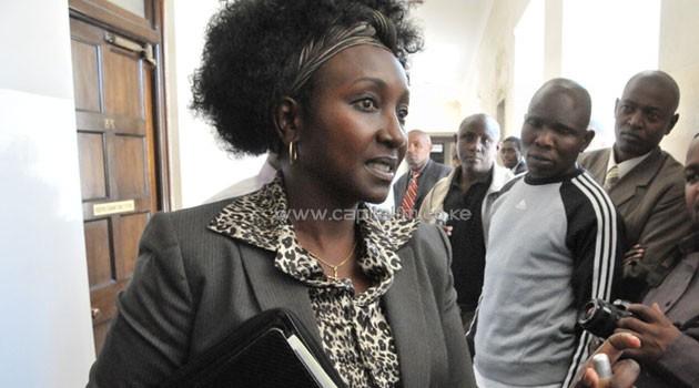 Former Chief Registrar of the Judiciary Gladys Boss Shollei. Photo/FILE