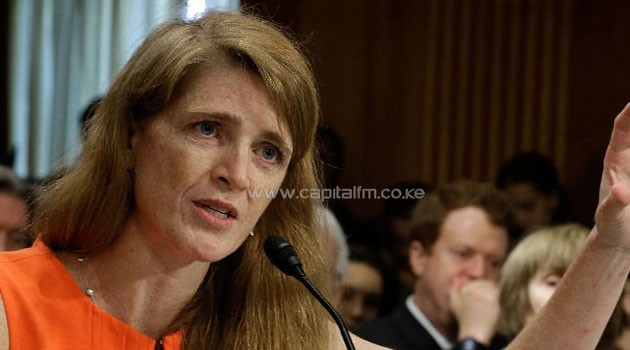 US Permanent Representative to the United Nations Samantha Power. Photo/ AFP FILE