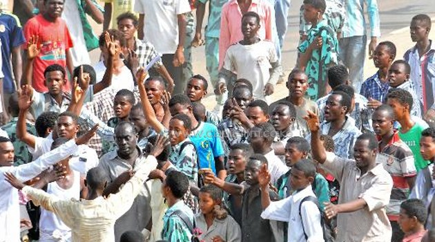 Sudanese protestors take to the streets/FILE