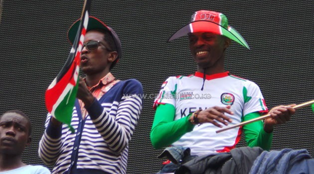 Kenyans react to president Museveni's speech at Safaricom Stadium, Kasarani.
