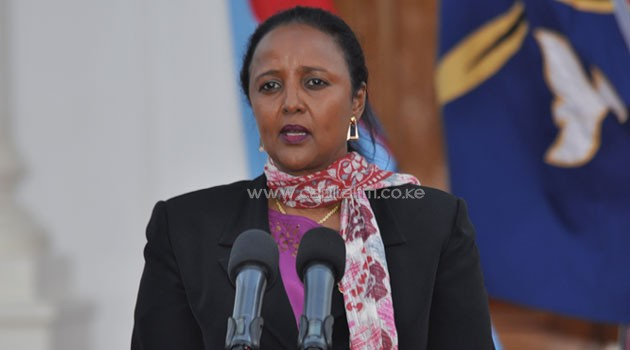 Addressing journalists on Friday, Kenya's Foreign Cabinet Secretary Amina Mohamed said Uganda was only helping in protecting State property as well citizens/FILE