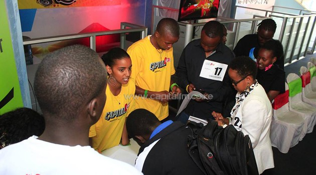 Out of 2,000 applicants the Capital FM team selected 200 who were invited for auditions. CFM/Francis Mbatha.