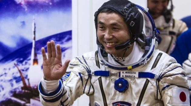 Koichi Wakata, pictured at the Baikonur cosmodrome on November 6, 2013, is the first ever Japanese astronaut to have command of the ISS/AFP