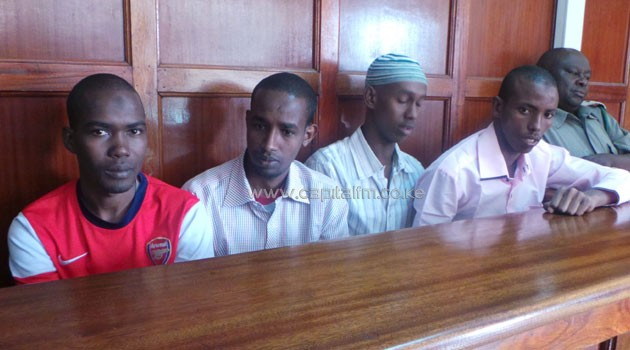 Security guard Sylvester Kyundu - in the terrorism case facing Mohamed Abdi, Liban Omar, Adan Mohamed and Hussein Mustafah - recalled in court how he searched and allowed  the car buyers entry into the Barclays Bank Queensway branch/FILE