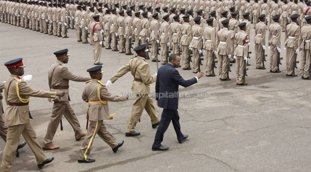 The president who presiding over the passing out parade of more than 3,000 Administration Police recruits in Embakasi said the government will act firmly against criminals who have claimed many lives of innocent Kenyans/PSCU
