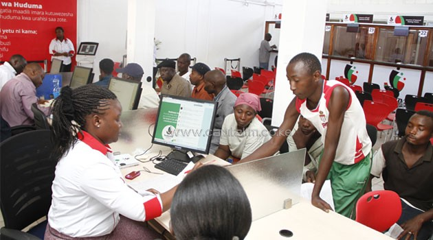 A Huduma Centre in Nairobi's Makadara. The centres will offer various services, including renewal of driving licences, national IDs and NHIF registration among others. Photo/ COURTESY