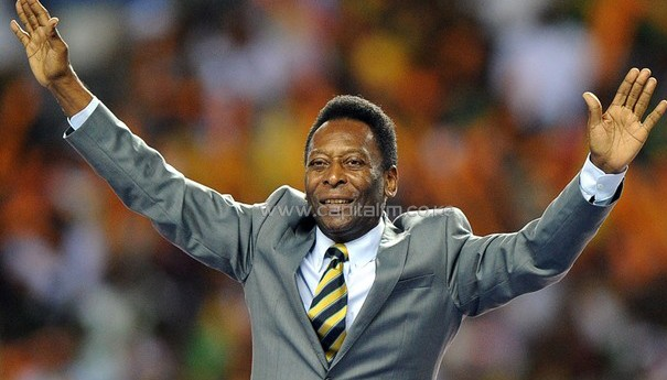 Football legendary Pele/AFP