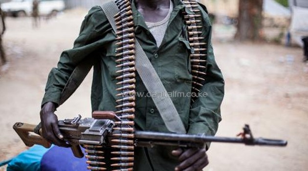 A sudanese man armed with a rifle/FILE