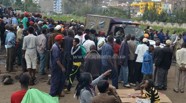 Four guards were slashed to death on the same night at this plot in Ngara, Nairobi. Photo/FILE