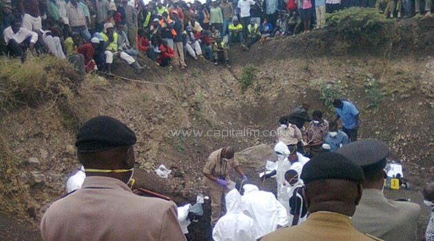 The new grave was discovered during exhumation of the earlier human remains discovered by herdsmen at the quarry/JOSEPH MURAYA