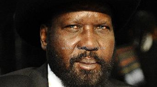 South Sudan's president and rebel chief met Tuesday in a bid to end six months of civil war/AFP