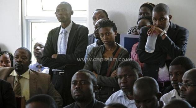 Ugandan human rights and gay rights activists attend a hearing at the constitutional court in Kampala on July 30, 2014/AFP