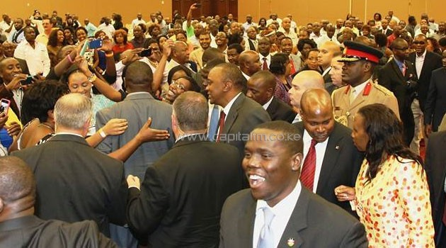 The President met the Kenyan diaspora at Dallas Convention Center. Photo/ PSCU