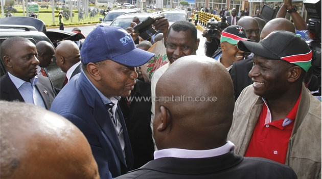 Kenyatta went to the airport in three unmarked 4-wheel drive vehicles. Photo/ COURTESY