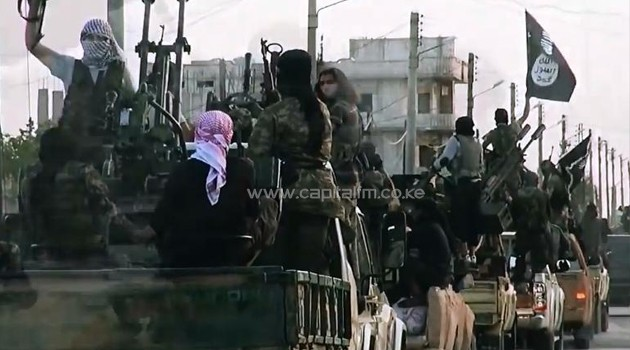 IS fighters in the Syrian City of Homs/AFP