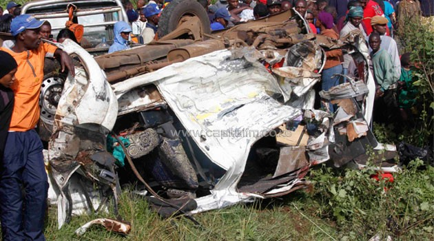 Two other people who are relatives to the deceased survived the accident with one admitted to Kieni Mission Hospital in critical condition/FILE