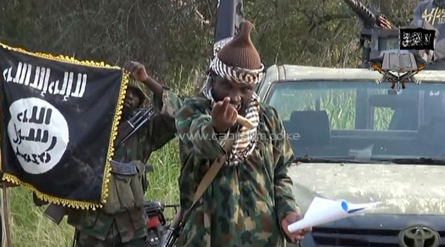 A screengrab taken on October 2, 2014 from a video released by the Nigerian Islamist extremist group Boko Haram and obtained by AFP shows the leader of the Nigerian Islamist extremist group Boko Haram, Abubakar Shekau © Boko Haram/AFP/