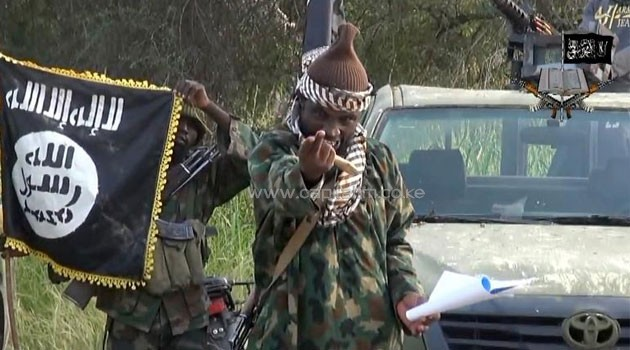 Video screengrab from Nigerian Islamist extremist group Boko Haram shows its leader Abubakar Shekau, October 2, 2014/AFP