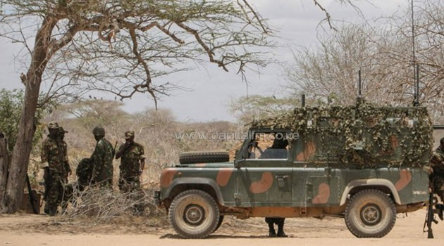 KDF soldiers inside Somalia in a past photo/FILE
