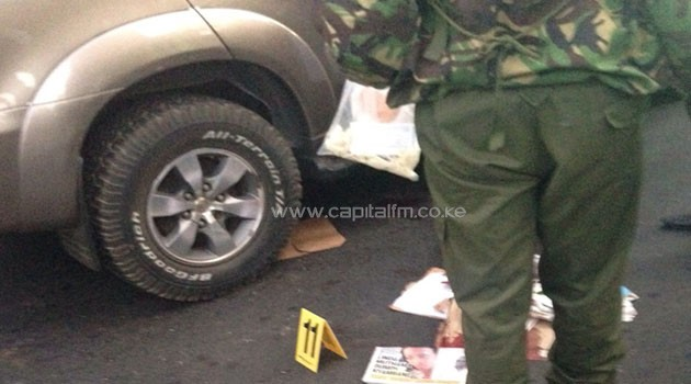 Police conduct a probe at the scene of the shooting/CFM NEWS