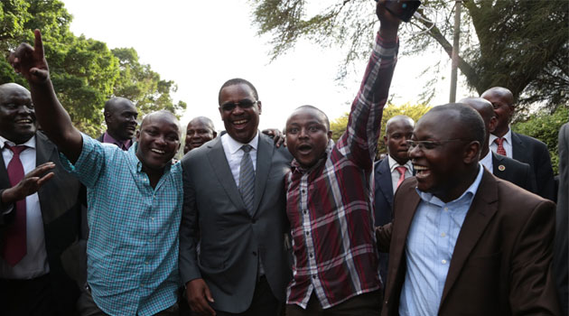 Kidero walked from City Hall to Integrity Centre and back/MIKE KARIUKI
