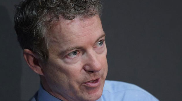 Senator Rand Paul speaks during a discussion on reforming the criminal justice system at Bowie State University in Bowie, Maryland on March 13, 2013/AFP