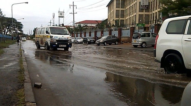 Vehicles got stuck in flash floods and the situation wasn't any better Monday morning as some roads remained impassable.