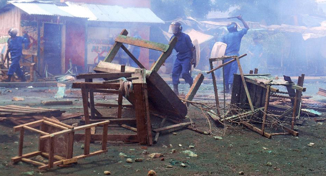 Burundi protests/FILE