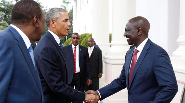 Deputy President Williams Ruto joined @POTUS and @PresidentKE for bilateral talks/PSCU