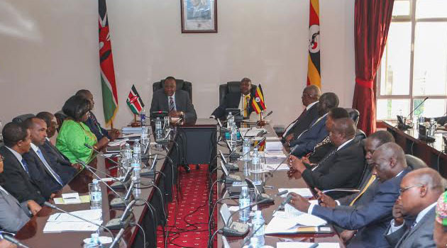The leaders agreed that subject to financing arrangements and Kenya guaranteeing security, the pipeline project should stand without further delay. Photo/PSCU.